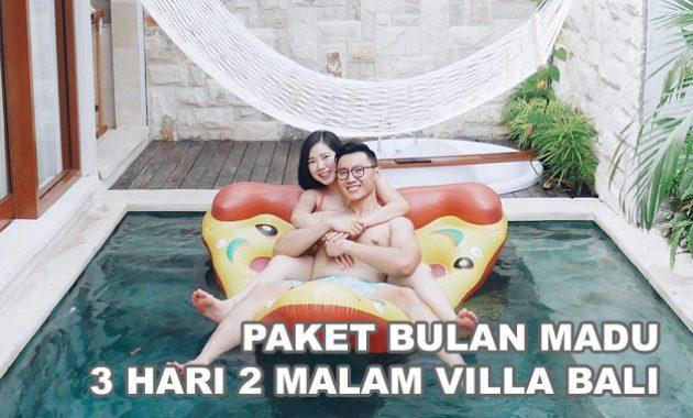 Paket Bulan Madu Bali 3 Hari 2 Malam Villa Private Pool