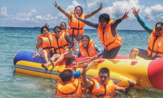 Mencoba Banana Boat Tanjung Benoa